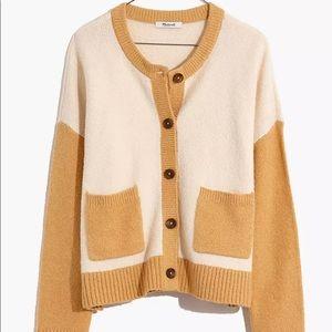 Madewell Colorblock Colburne Cardigan Sweater